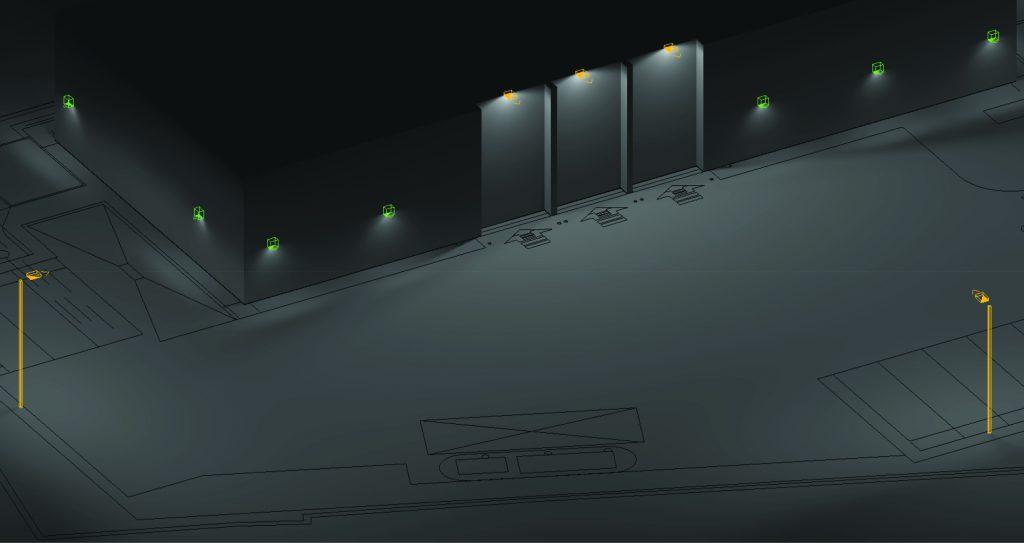 Lighting Design 3D Render