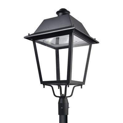 Trad light post top