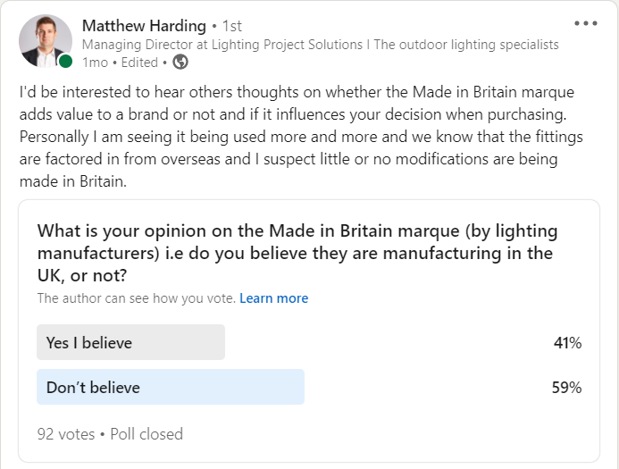 made in britain linkedin poll